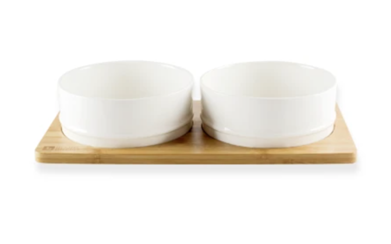 Bamboo & Ceramic Bowl