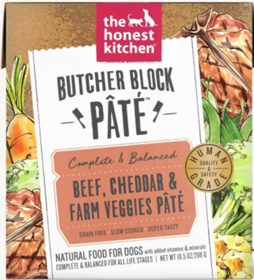 Beef, Cheddar & Farm Vegetables Pate Butcher Block - The Honest Kitchen