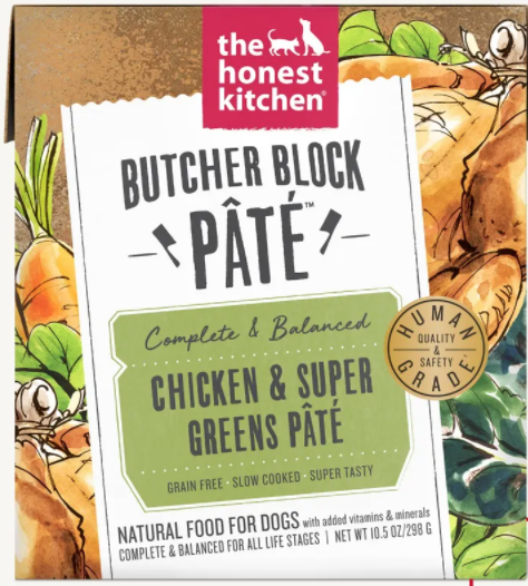 Chicken & Super Greens Pate Butcher Block - The Honest Kitchen