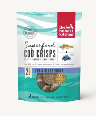 Cod & Blueberry Superfood Crisps - The Honest Kitchen