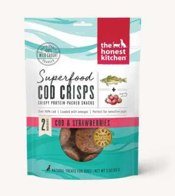 Cod & Strawberry Superfood Crisps - The Honest Kitchen