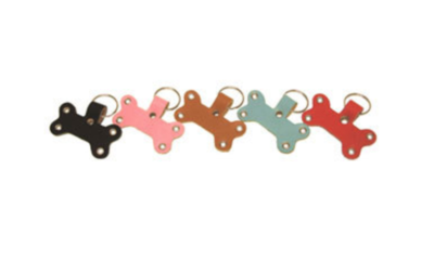 Genuine Leather Dog Bone Key Chain - Buddy Belt