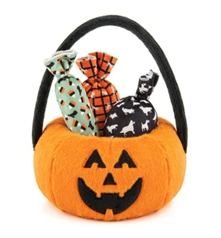 Pumpkin Basket & 3 Twist Candy Toy