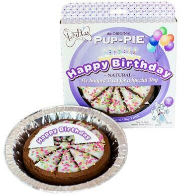 Happy Birthday Pup Pie - Purple