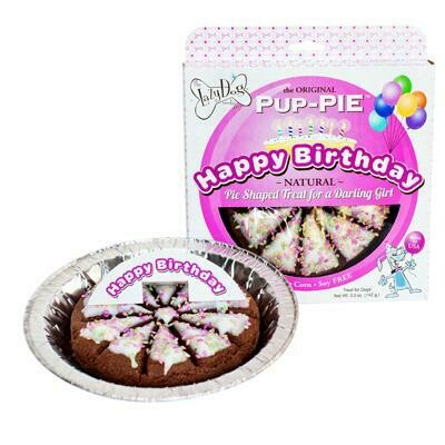 Happy Birthday Pup Pie - Pink