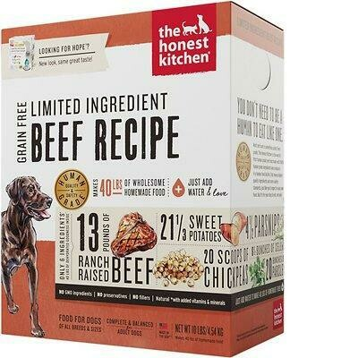 Honest Kitchen GF LID Beef Dehydrated Dog Food