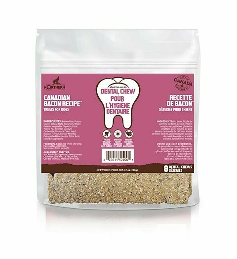 Canadian Bacon Dental Chew - Northern Pet