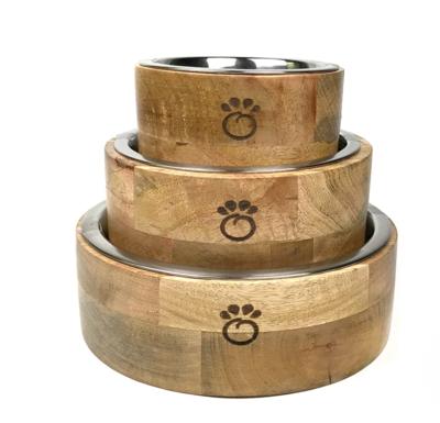 Wood Pet Bowl