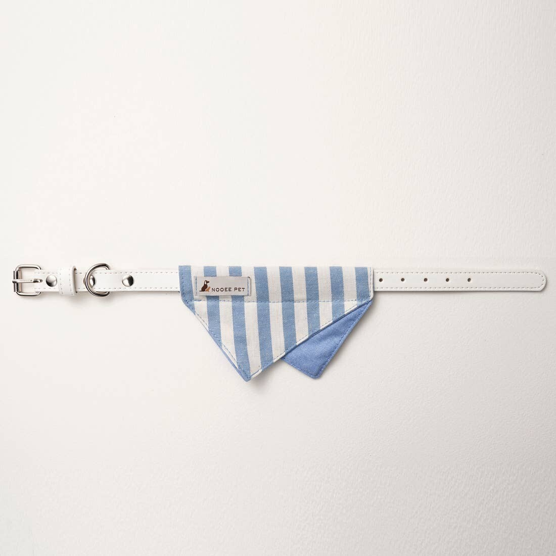 Bandana Collar - Blue & White Stripe