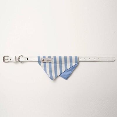 Bandana Collar - Blue & White Stripe