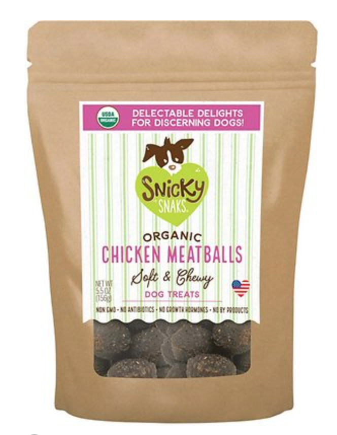 Organic Chicken Meatballs - Soft & Chewy - Snicky Snaks