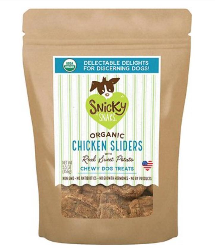 Organic Chicken Sliders w/Sweet Potato - Snicky Snaks