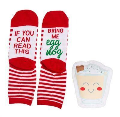 Sock & Eggnog Toy - Gift Set