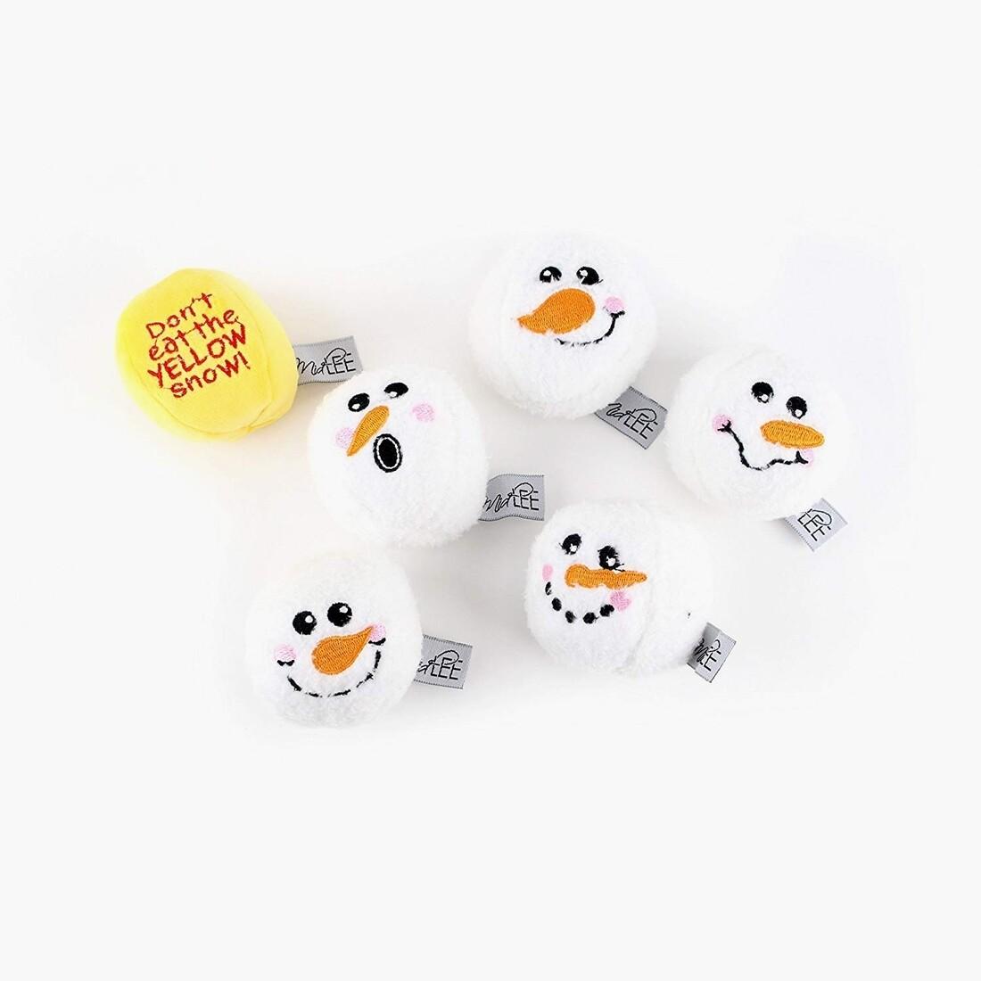 Snowball Fight Plush Dog Toy
