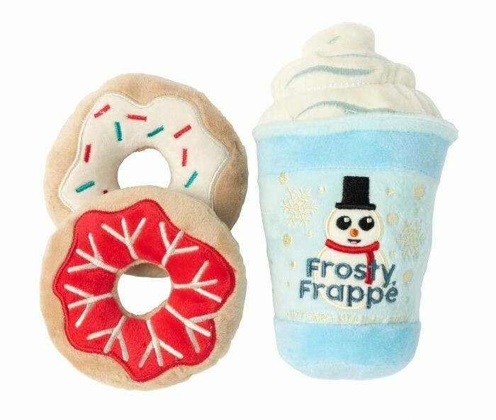 Snowman Frappe & Donuts