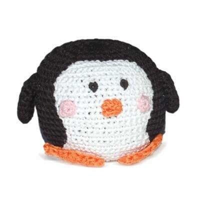 Organic Crochet Penguin Ball