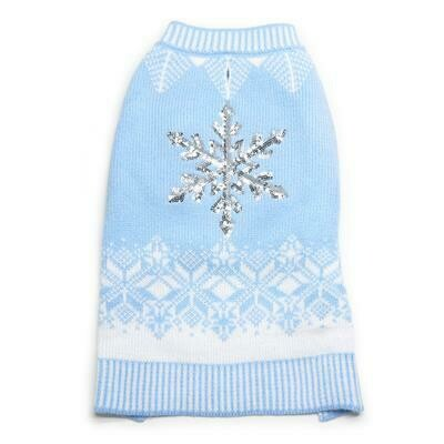 Snowflake Baby Blue Sweater