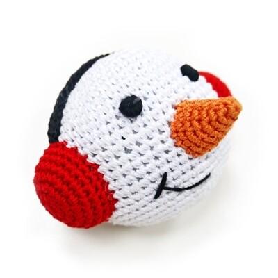 Organic Crochet Snowman Ball