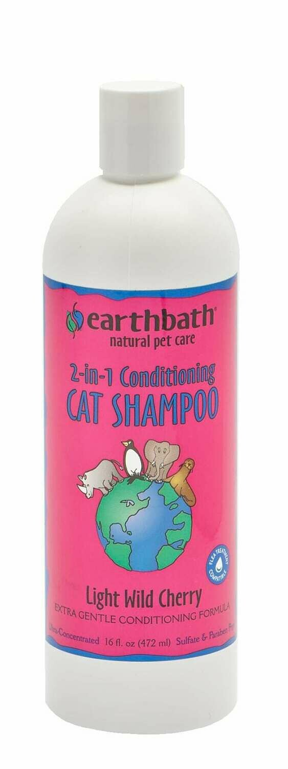 2 in 1 Conditioning Shampoo for Cats - Light Wild Cherry - EarthBath