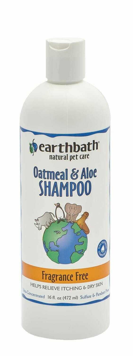 Oatmeal & Aloe Shampoo Fragrance Free - EarthBath