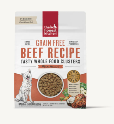 Beef Grain Free Clusters - The Honest Kitchen
