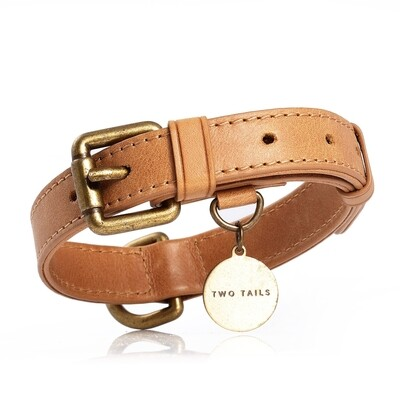 Genuine Leather Brown Collar - 2T