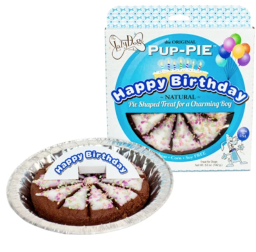 Happy Birthday Pup Pie - Blue