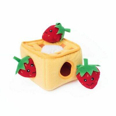 Waffles with Strawberries - Hide & Seek Toy