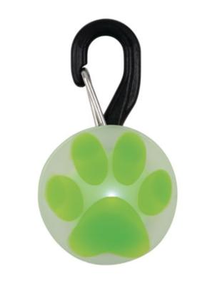 Green Paw Collar Light