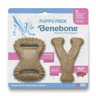 Puppy Pack Dental Chew Real Bacon - Benebone