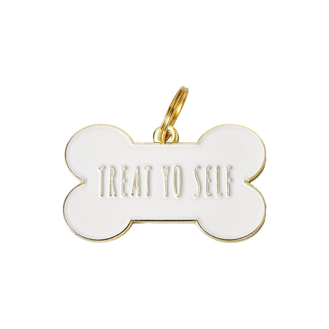 Treat Yo Self Bone ( White/Gold ) Tag