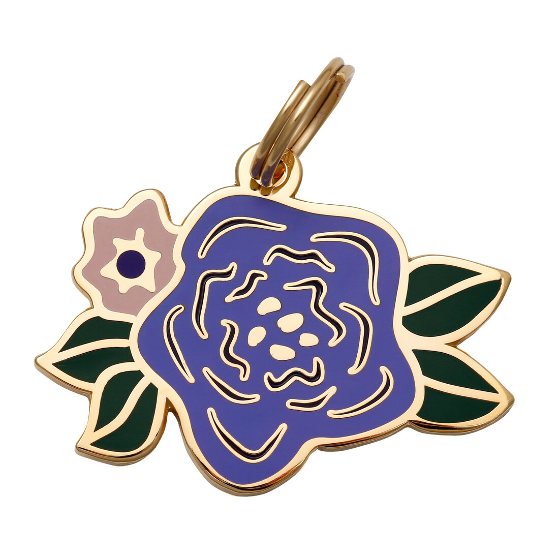 Purple & Pink Flower Tag