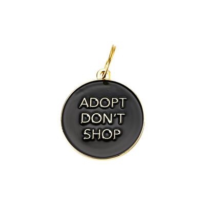 Adopt Don't Shop ( Black ) Tag
