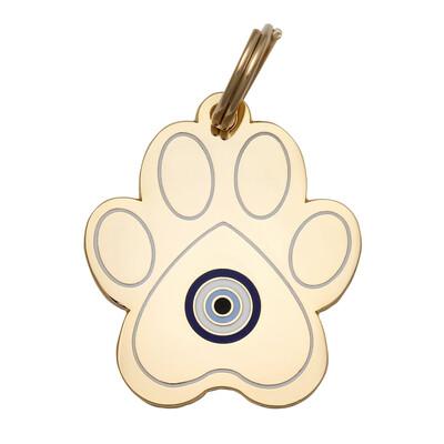 Evil Eye Paw Tag