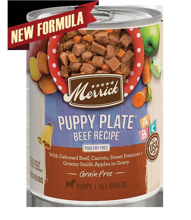 Puppy Plate Beef Recipe - Merrick