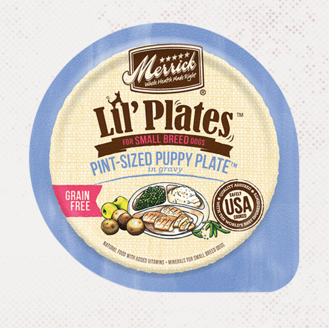 Lil' Plates Pint-Sized Puppy Plate - Merrick