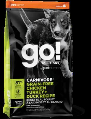 GO! Carnivore GF Chicken Turkey Duck Puppy Recipe
