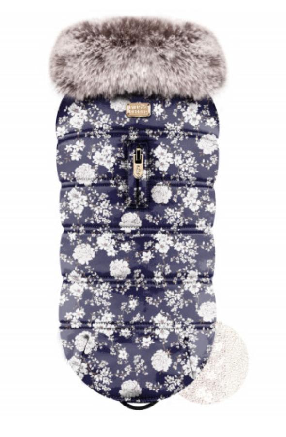 Luxury Flower Vegan Fur Jacket