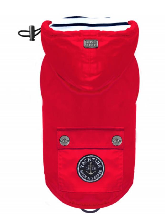 Luxury Red Raincoat