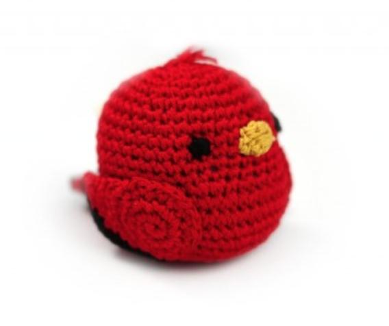 Crochet Cardinal Bird Toy