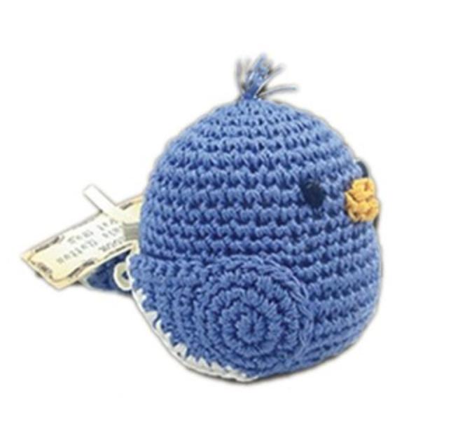 Organic Crochet Blue Bird Toy