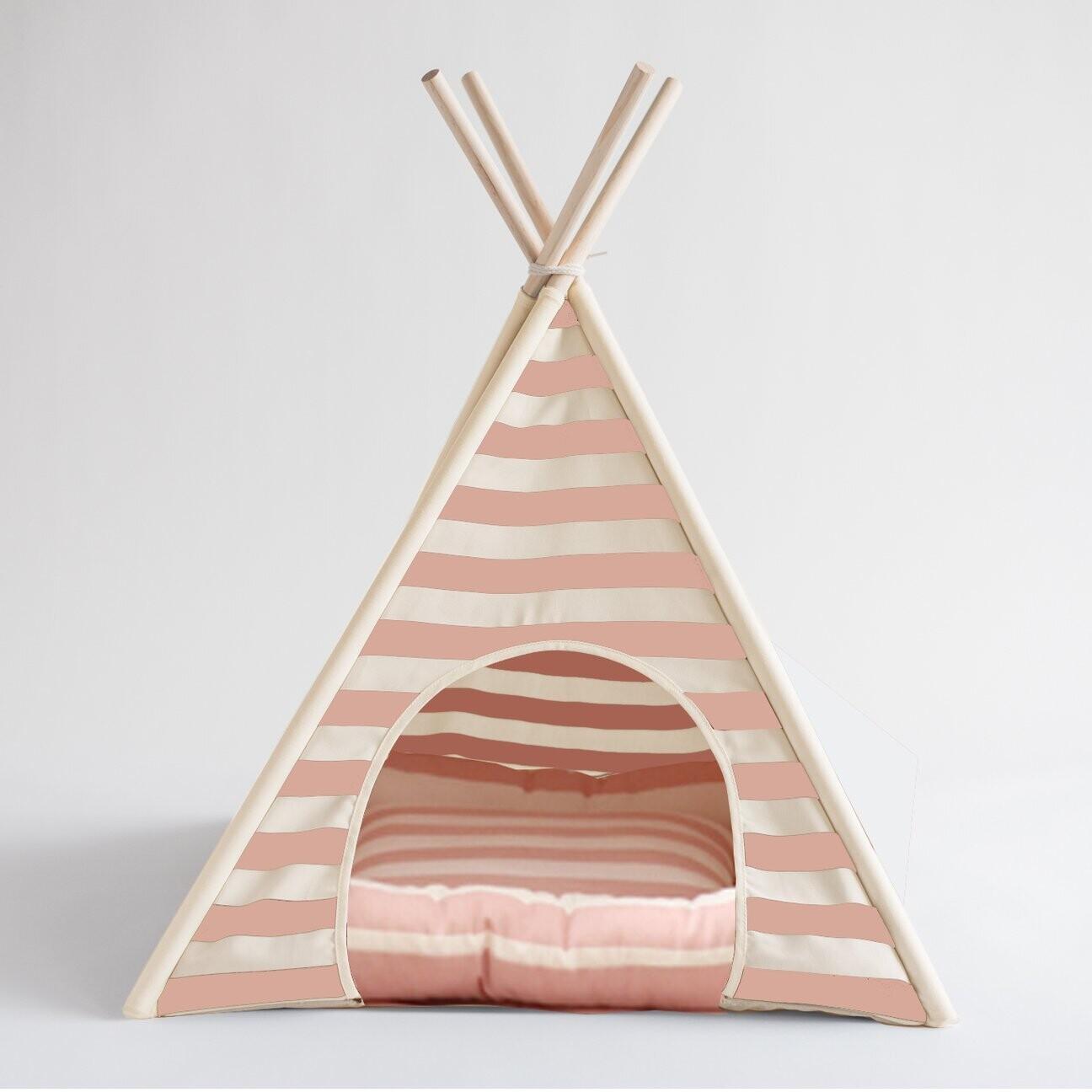 Pink Stripe Teepee