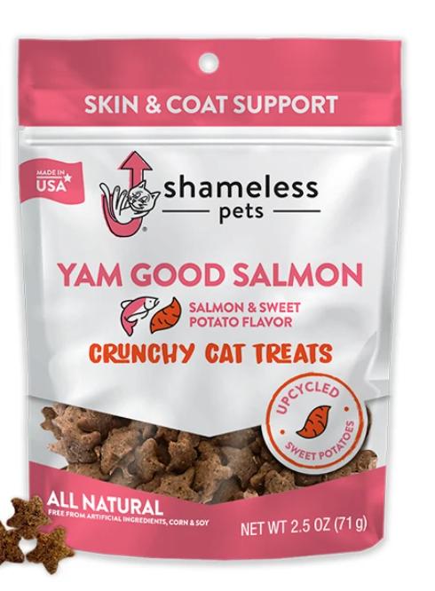 Yam Good Salmon Cat Treats - Shameless Pets