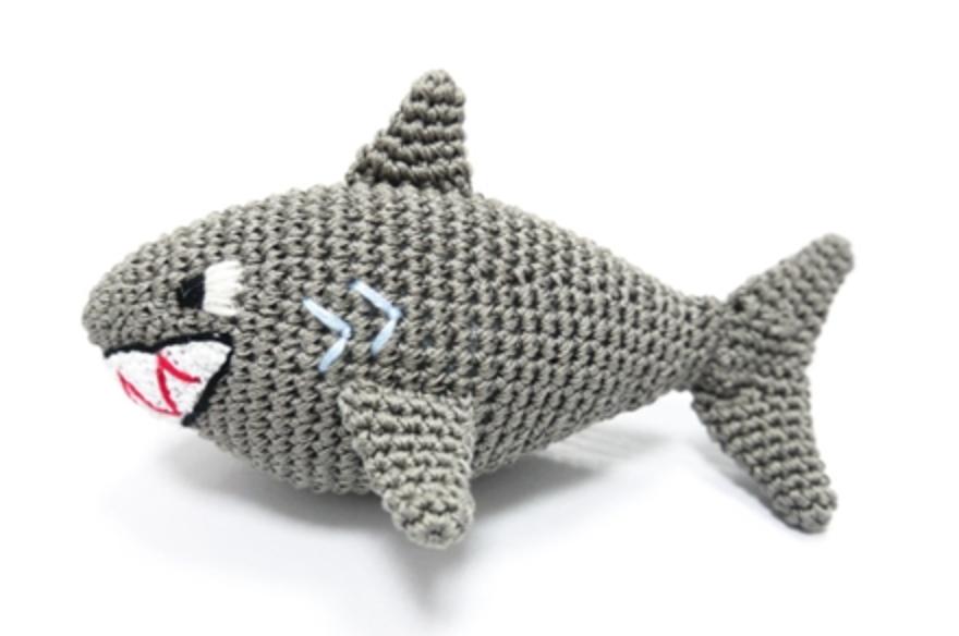 Organic Crochet Shark Toy