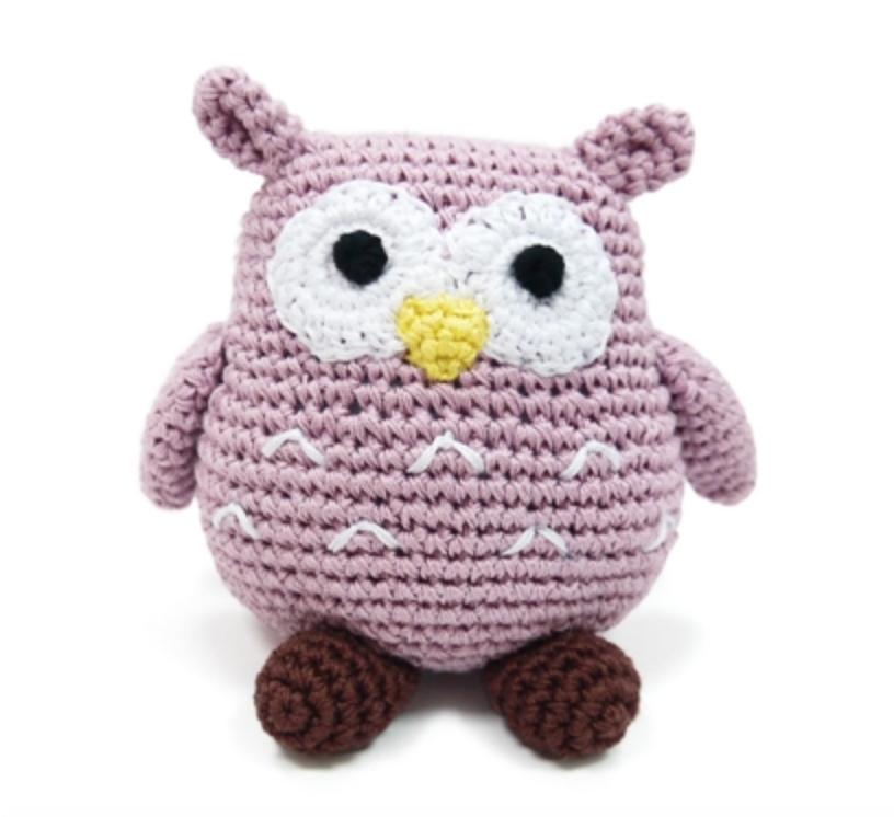 Organic Crochet Owl Toy
