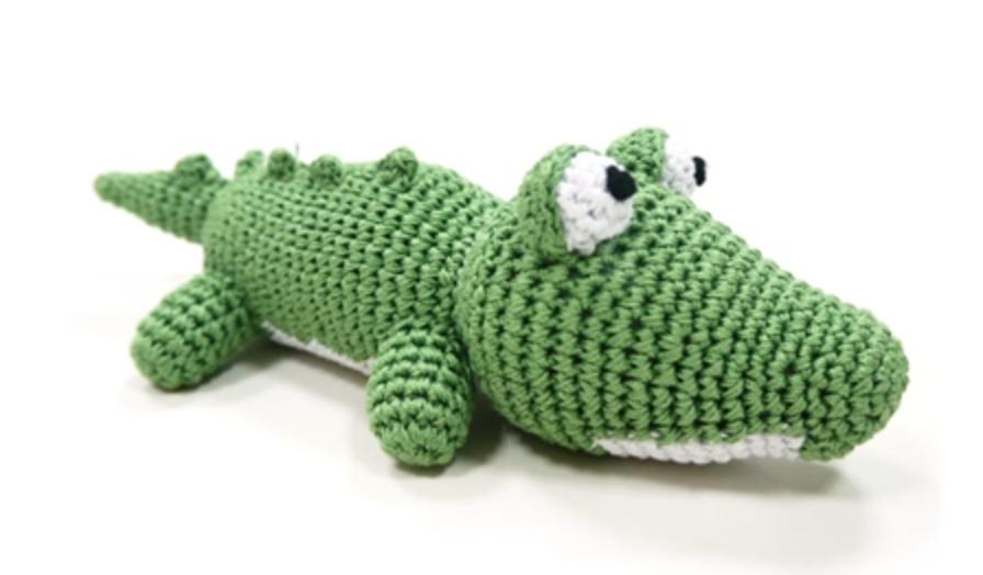 Organic Crochet Crocodile Toy