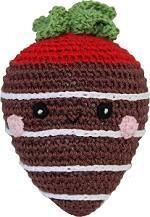 Organic Crochet Milk Chocolate Strawberry Toy