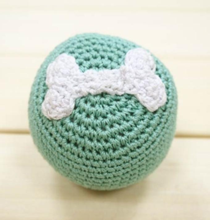 Organic Crochet Blue Ball