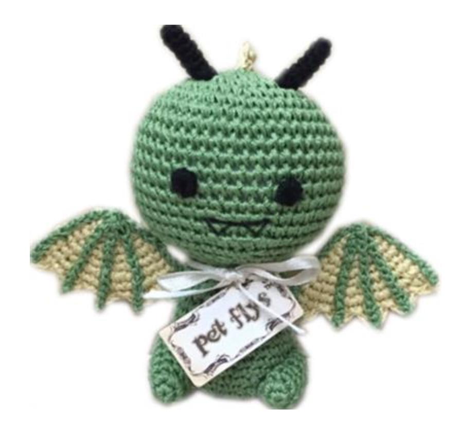 Organic Crochet Dragon Toy