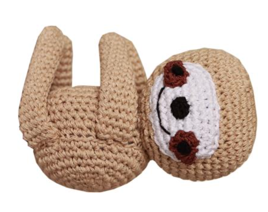 Organic Crochet Sloth Toy